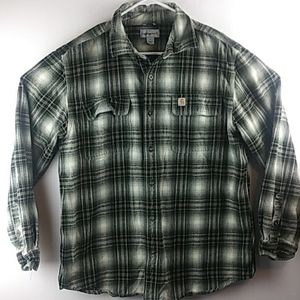 Carhartt Heavy Flannel shirt MENS Large